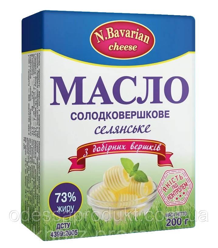 """Масло сливочное """"N.Bavarian cheese"""" 73% 200г"""