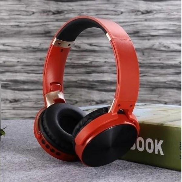 Бездротові навушники Bluetooth microSD Enjoy Music S35 червоний