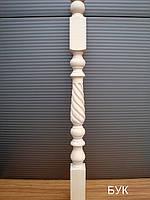 """Деревянная балясина-столб из бука """"витой тюльпан"""""""