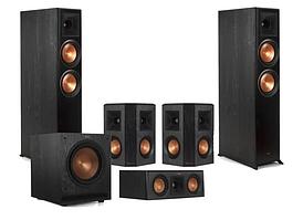 Комплект акустики Klipsch set 5.1 RP-6000F (RP-6000F + RP-500SA + RP-600C + SPL-120) Ebony