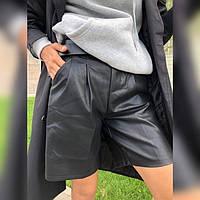 Кожаные шорты бермуды женские 46296 р 42-56