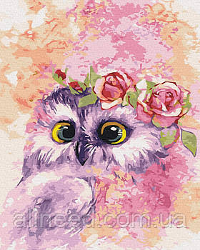 Картина по номерам Сова в розовом свете