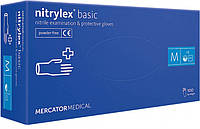 Перчатки нитриловые Mercator Medical nitrylex 100 шт, размер M синие