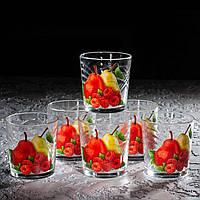 """Набір склянок 250 мл """"Класик"""" фрукти в асортименті 6 шт., фото 1"""