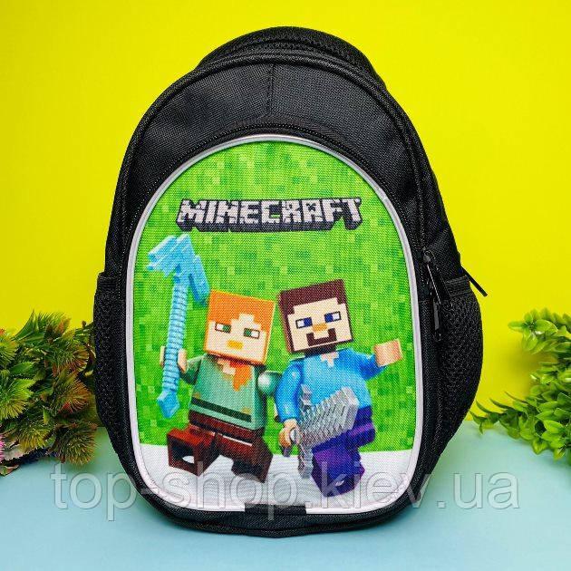Детский рюкзак для мальчика Майнкрафт (дитячий рюкзак Minecraft)