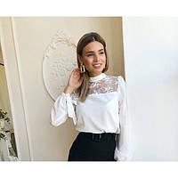 Блуза женская с кружевом 57443