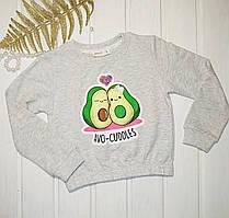 Модный свитшот-топ с принтом Авокадо для девочки Размеры 110 116