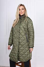 Стеганная женская куртка-рубашка ONE size 44-0261