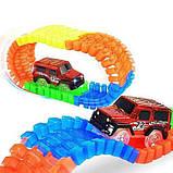 Трек гоночный Magic tracks 220 деталей гибкая трасса гоночная дорога для малышей игрушка для мальчиков, фото 4