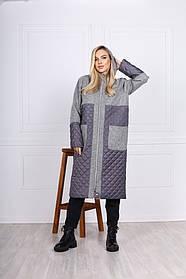 Куртка-кардиган женская комбинированная 44-0262