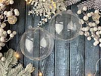 УЦЕНКА Шар  (основа) для новогодней игрушки  разъемный 8 см, 10 шт/уп. Польша оптом, фото 1