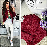 Женская демисезонная куртка стильная Осень-весна 310 бордо