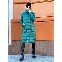 Куртка-Пальто женская зимняя Марго 6555 изумруд