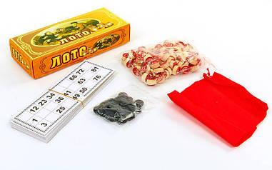 Лото настольная игра в цветной картонной коробке W9070