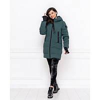 Куртка пуховик женская зимняя 671983 р 42-50