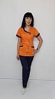 Женский медицинский костюм Китай хлопок короткий рукав, фото 1