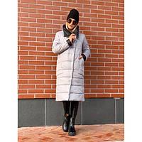 Куртка-Пальто женская зимняя Марго 6555 серая