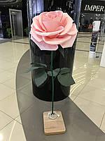 Троянда рожева на стійці Великі ростові квіти з ізолону, фото 1