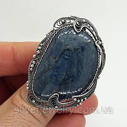 Серебряное кольцо с РОДУСИТОМ (натуральный), серебро 999 пр. Размер 18