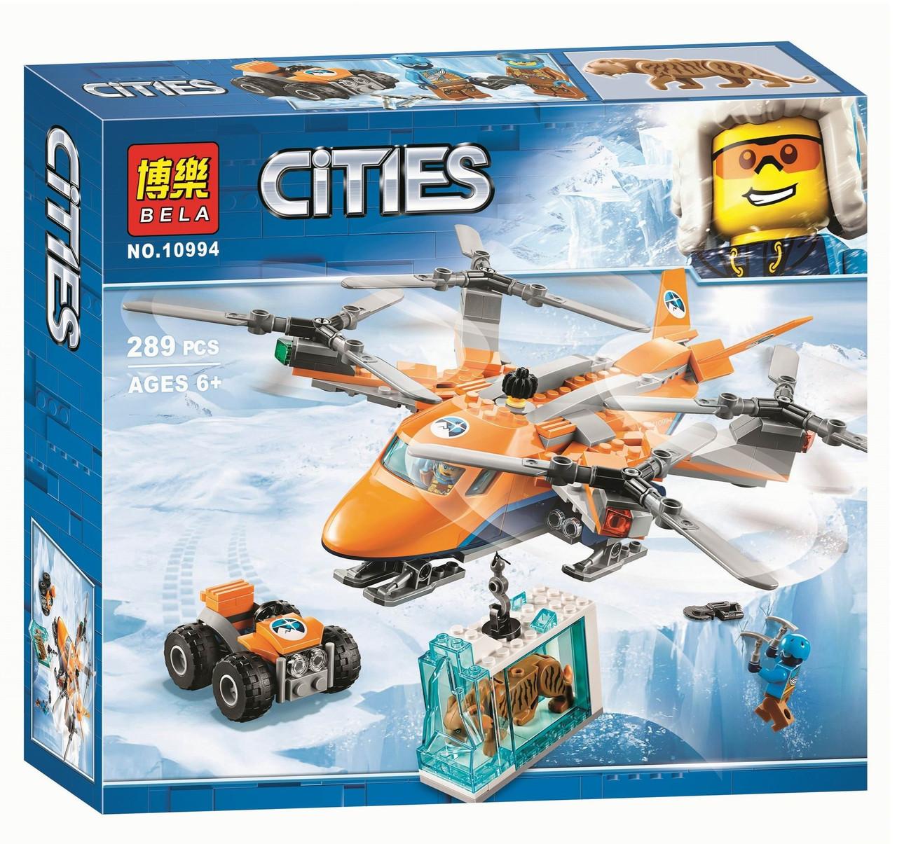 """Конструктор """"Арктический вертолет"""" Bela 10994 (аналог Лего City ), 289 деталей"""