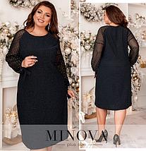 Элегантное платье большого размера Размеры: 48-50, 52-54, 56-58, 60-62, 64-66, фото 2