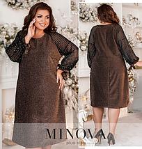 Элегантное платье большого размера Размеры: 48-50, 52-54, 56-58, 60-62, 64-66, фото 3