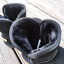 Натуральна замша уггі дитячі UGG чорні черевики чобітки уггі дитячі для дівчинки хлопчика, фото 3