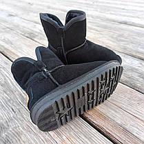 Натуральна замша уггі дитячі UGG чорні черевики чобітки уггі дитячі для дівчинки хлопчика, фото 2