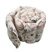 """Бортики-защита в детскую кроватку цельные стеганые (на три стороны кроватки ) """"Акварельные цветы"""""""