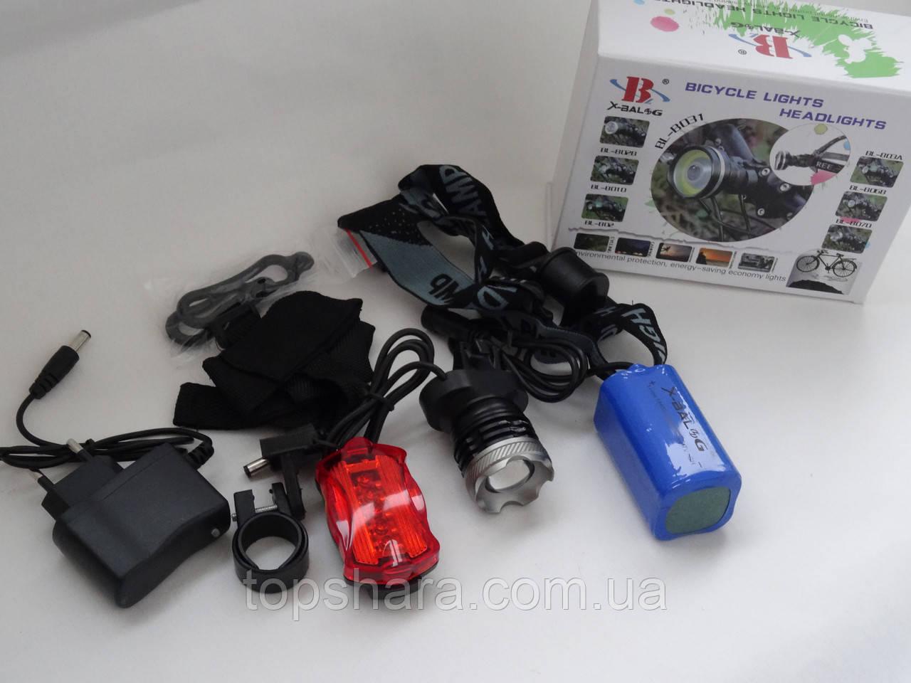 Фонарик для велосипеда аккумуляторный Bailong BL-B07D-T6