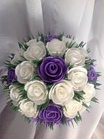 Светильник ночник Букет белых и сиреневых роз Оригинальный подарок ручной работы