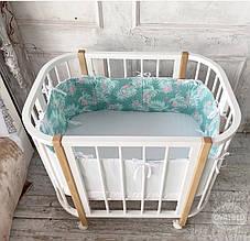 Дитяче ліжечко трансформер 3в1 Ovalbed Sleepy