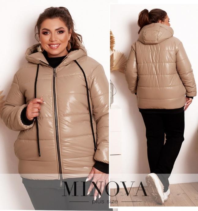 Комфортная куртка батал из простеганной ткани Украина Размеры: 48-50, 52-54, 56-58
