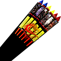 Набор ракет MASTERS OF FIRE, в упаковке: 6 штук, калибр: 25 мм