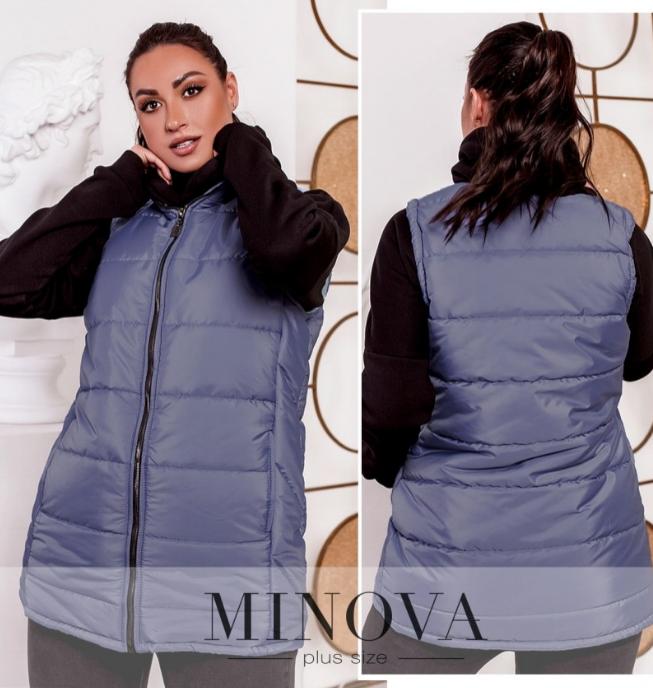 Тёплый и стильный жилет большого размера, с подкладкой Минова Украина Размеры: 50-52, 54-56, 58-60, 62-64