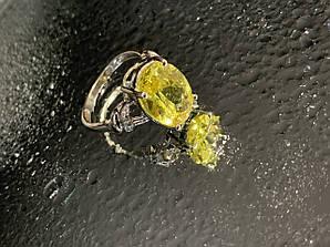 Кольцо из серебра с фианитом  Солнце