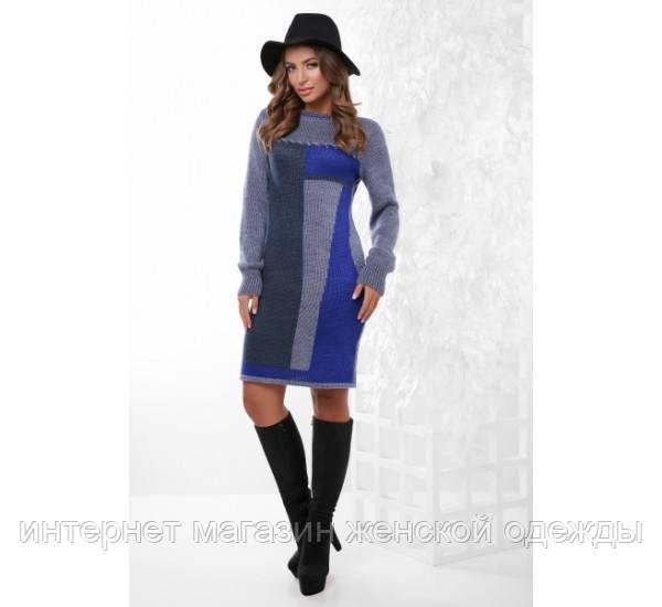 Платье 157 св.джинс-джинс-электрик