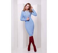 Вязаное платье 135 голубой