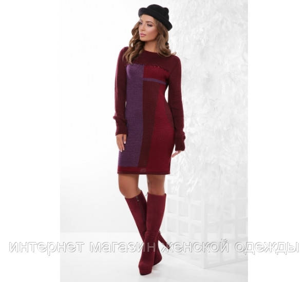 Платье 157 марсала-фиолетовый-бордовый