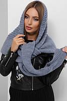 Женский шарф косынка Шарф-бактус вязаный