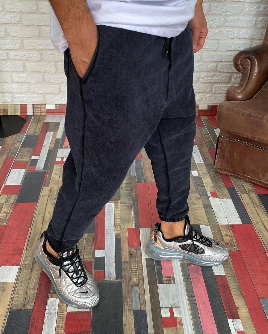 Мужские спортивные штаны джоггеры теплые качественные хаки