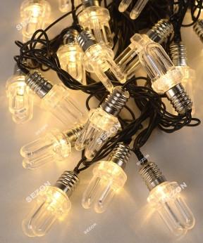 ЛАМПОЧКА-ДУГА 20 LED, 7м, белый теплый