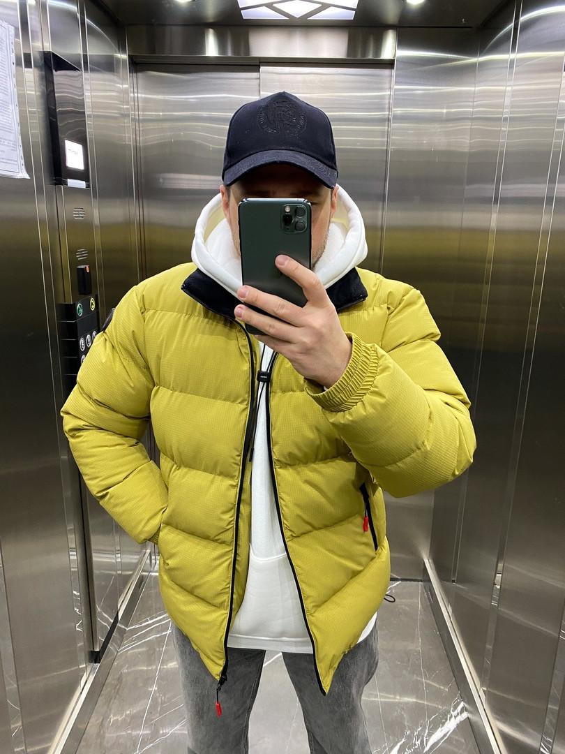 Зимова чоловіча куртка пуховик з капюшоном стильний