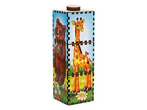 Вращающиеся цветные кубики: Собери животное