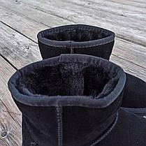 Уггі жіночі натуральна замша UGG GUCCI чорні зимові уггі жіночі натуральна замша, фото 3
