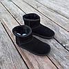 Уггі жіночі натуральна замша UGG GUCCI чорні зимові уггі жіночі натуральна замша, фото 4