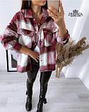 """Рубашка женская оверсайз в клетку """"Elba"""", фото 9"""