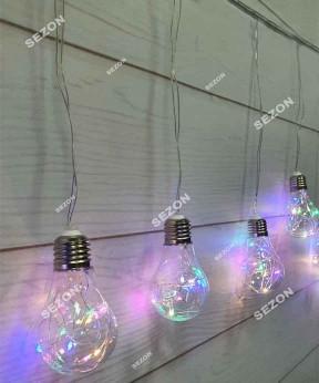 Лампочки РОСА 60мм, 10шт, 3м, мульти (20)+ USB
