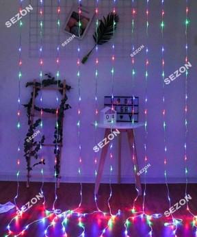 Водопад 240 LED 2м * 2м, (8 режимов + статическая), мульти
