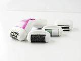 Женский эпилятор 4в1 Gemei, насадки: пемза, эпилятор, пилочка для маникюра, бритва, фото 5